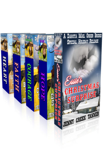 "Dakota Mail Order Brides Clean Western Romance Four-Book Box Set: Plus BONUS Christmas Story – ""Essie's Christmas Surprise"""
