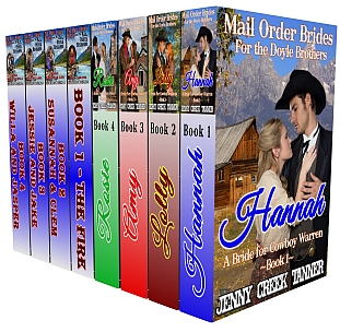 A Mail Order Brides Clean Western Romance 8-Book Boxed Set: The Mail Order Brides for the Doyle Brothers 4-Book Series by Jenny Creek Tanner AND The Mail Order Brides and the Mail Order Husbands